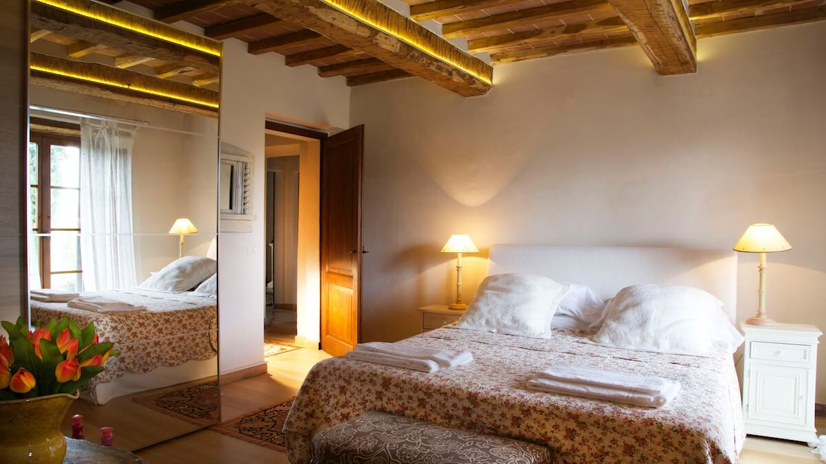 One of the beautifly characteristic and charming bedrooms at Casa Bella Vista